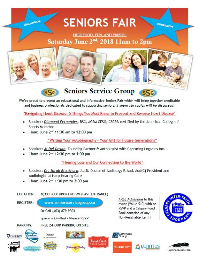 Seniors Fair June 2nd, 2018 from 11am - 2pm