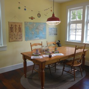 the homeschool room
