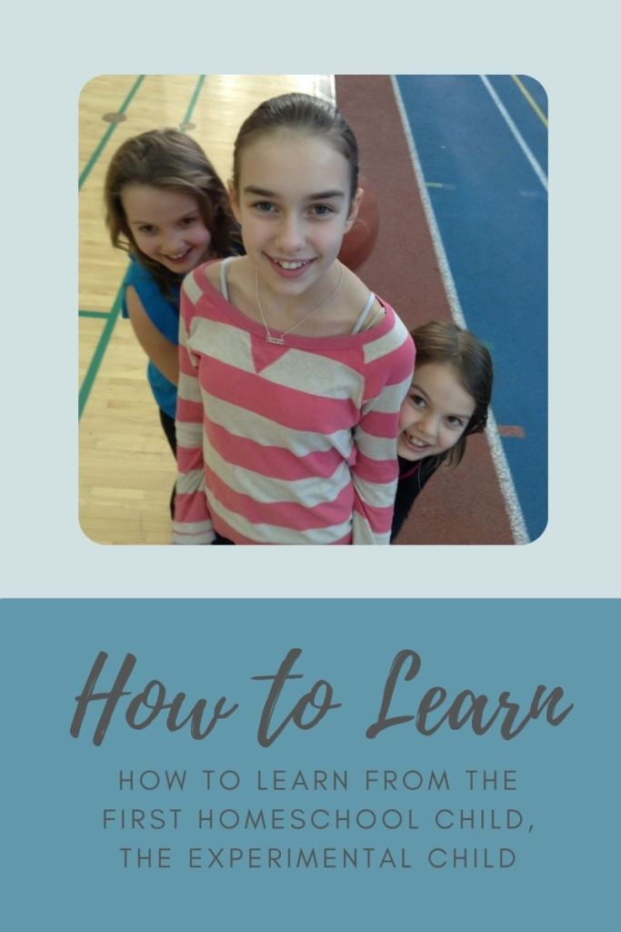 How to Learn from the first homeschool child