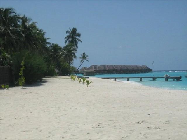 Spiaggia delle Maldive