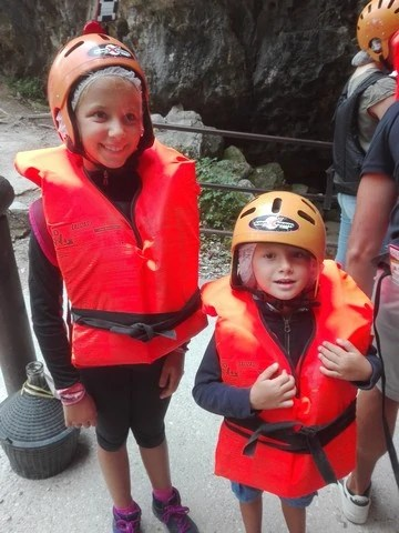 Visita grotte di Oliero coi bambini