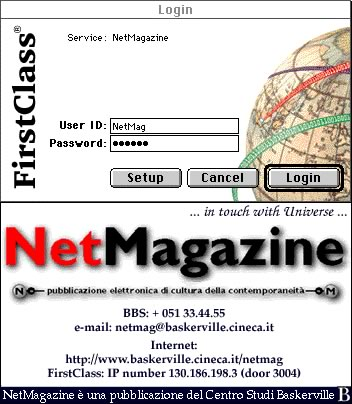 L'ultima versione dello splash screen di NetMagazine - FirstClass / The last NetMagazine splash screen release