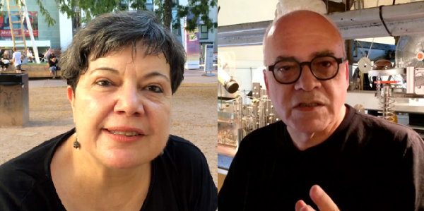 Short video interviews with Leonel Moura and Annick Bureaud for fivewordsforthefuture