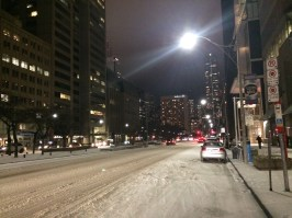 Snow in Toronto before leaving