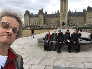 In Ottawa, in front of the Parliament (ph. Steven Morris)