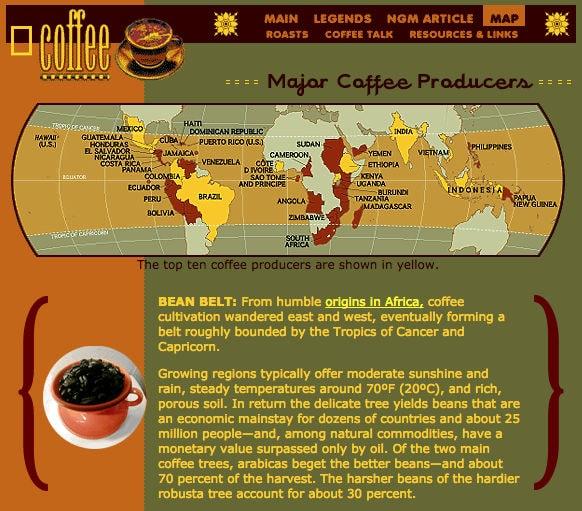 5 webs para saber un poco más del café y de las cafeteras