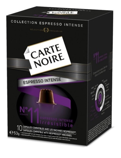 Cafe Carte Noire Espresso Intense nº11, 10 unidades de 53 g (Paquete de 4 por unos 10 euros)