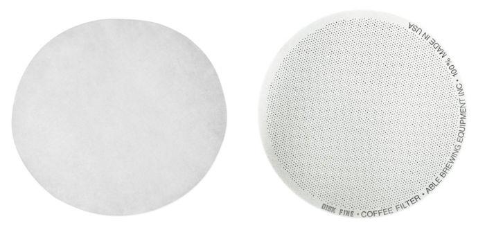 Filtros Aeropress: Filtro de papel estándar vs Filtro de metal