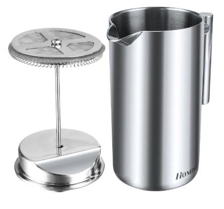 Homdox 0AI001520 - Cafetera de émbolo