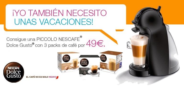 ¡Promoción! Cafetera Krups Dolce Gusto Piccolo + 3 packs de cápsulas por menos de 50 euros
