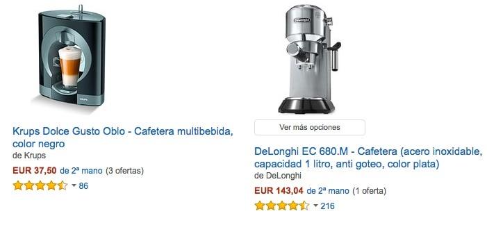 Cafeteras de segunda mano en Amazon España