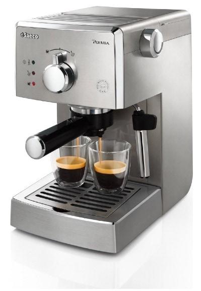 Ahorra 65 euros en la cafetera espresso Saeco Poemia Inox HD8427/11 en Amazon: solo cuesta 109 euros