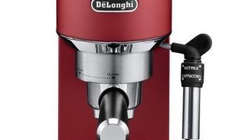 De'Longhi Dedica EC685.R - Cafetera de bomba (acero inoxidable, capuccinatore, deposito de 1,3 litros, anti Goteo) color rojo