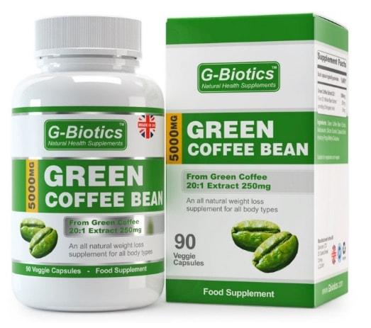 Cápsulas de Extracto de Grano de Café Verde G-Biotics