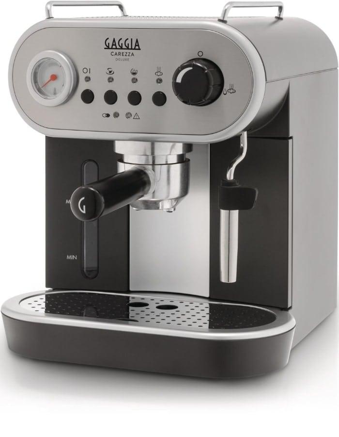 Gaggia Carezza - Cafetera (Acero inoxidable, Café expreso, Leche caliente, Agua caliente, 1,4L, Negro)