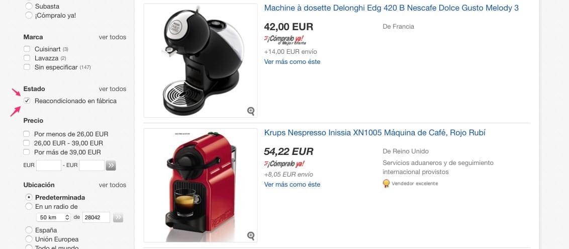 ¿Alguna otra opción para comprar cafeteras de segunda mano?