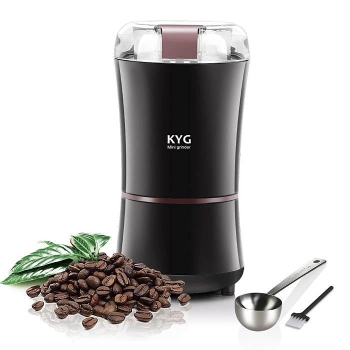 Mejor molinillo de café por menos de 20 euros:Molinillo eléctrico de café y semillas de KYG