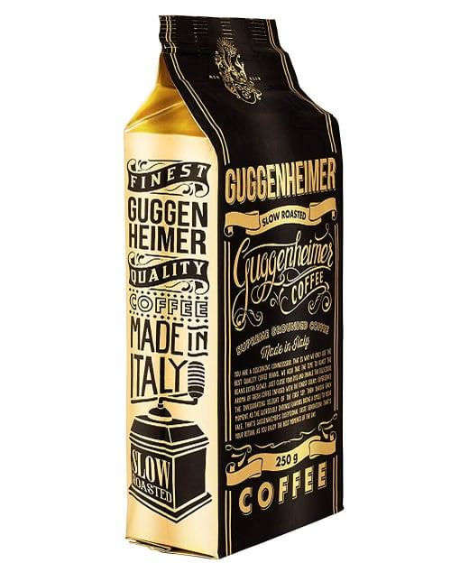 GUGGENHEIMER COFFEE - Café espresso molido de baja acidez y amargor (500 gramos)