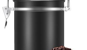 Bote para Café, EECOO Tarro de café 1.5L Bote Hermético de Acero Inoxidable