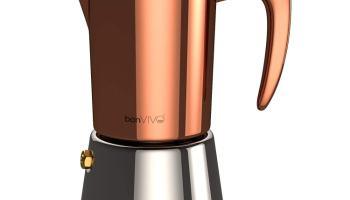 bonVIVO Intenca - Cafetera Italiana Express de Inducción de Acero Inoxidable