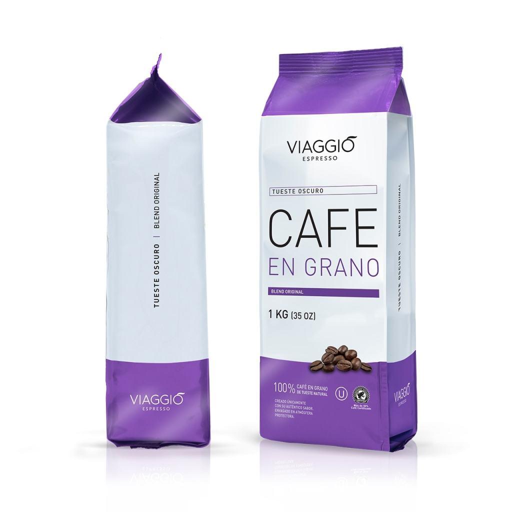 VIAGGIO ESPRESSO - 1 Kg. Café en grano tostado - TUESTE OSCURO
