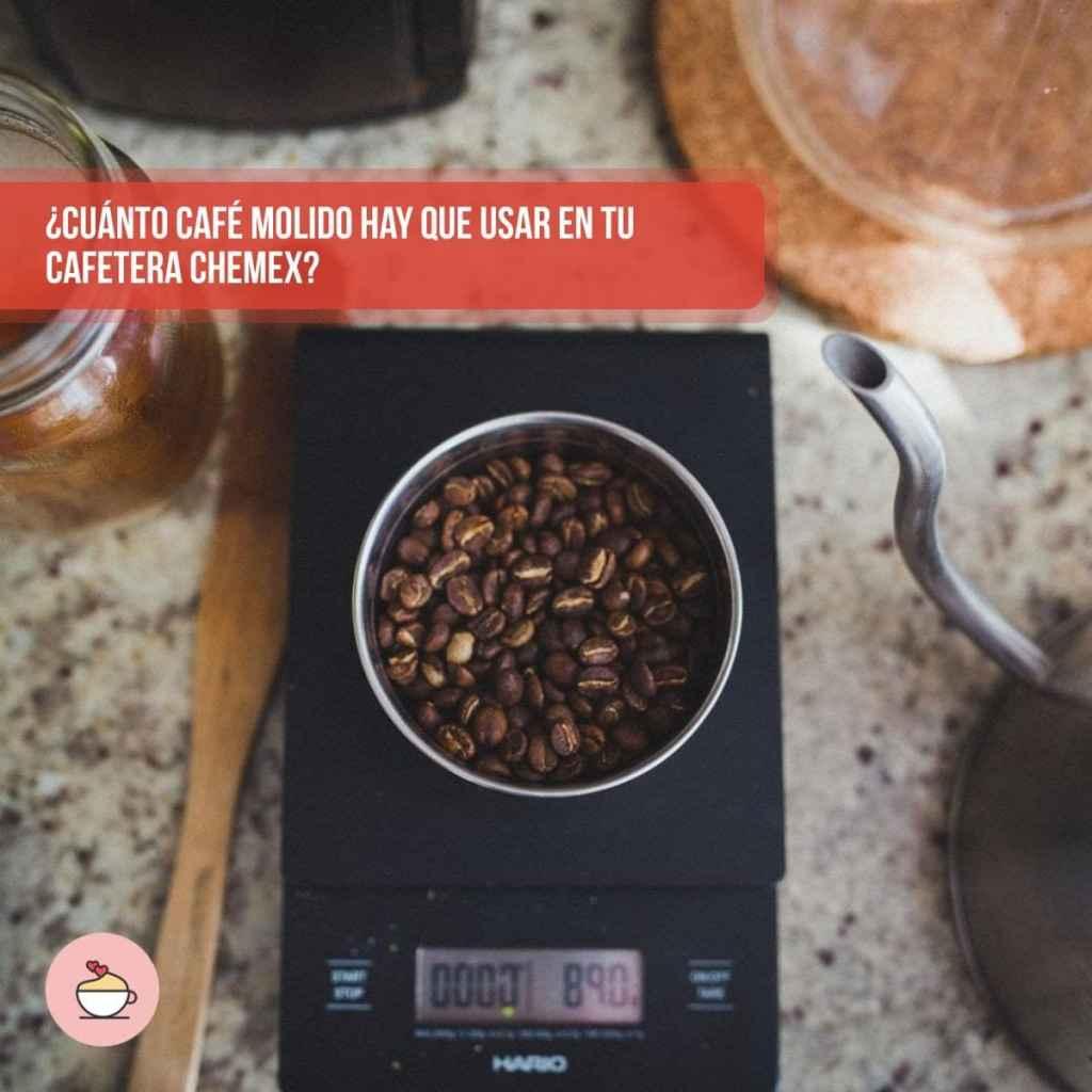 ¿Cuánto café molido hay que usar en tu cafetera Chemex?