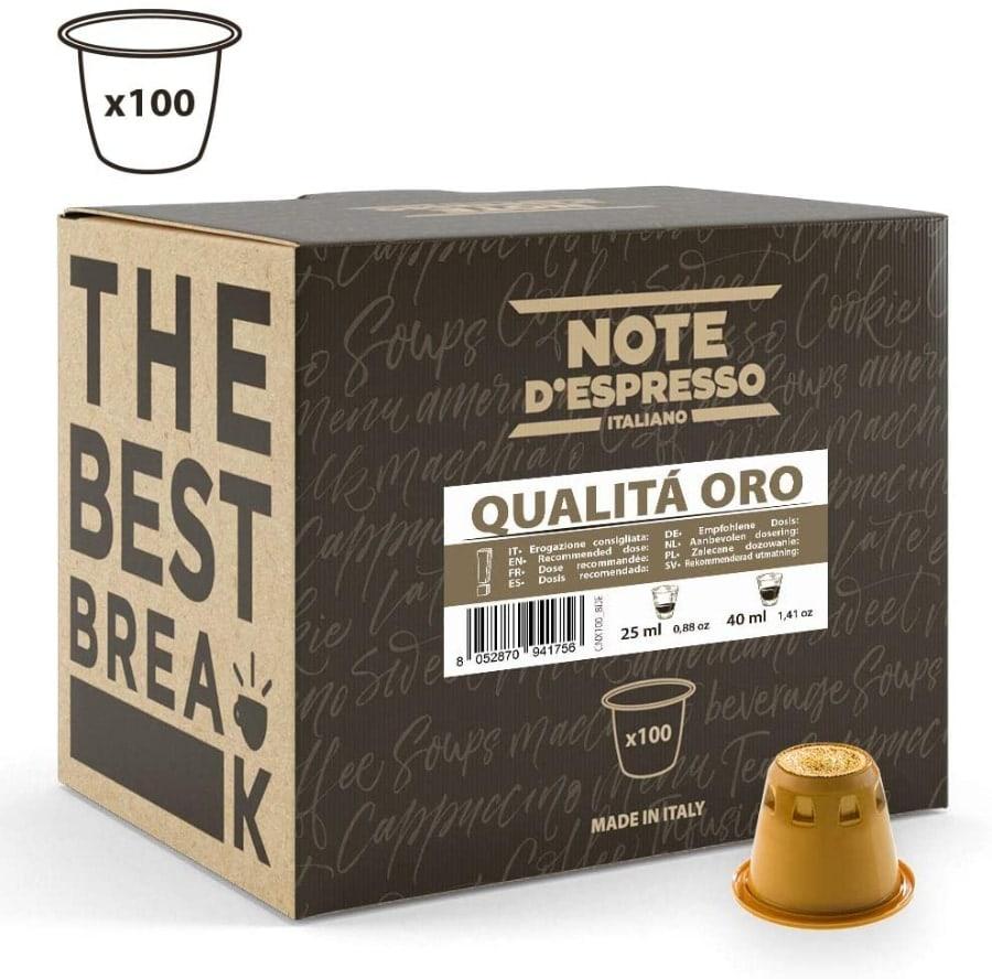 """Sexta opción: Note D'Espresso - Cápsulas de café """"Qualità Oro"""""""