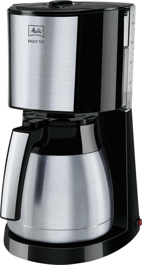 Melitta Cafetera de filtro con jarra isotérmica de acero inoxidable