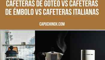 Cafeteras de goteo vs de émbolo (francesa) vs italianas: comparativa máquinas de café