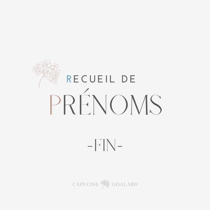 RECUEIL PRENOMS