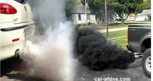 عطل السيارة من لون دخان العادم