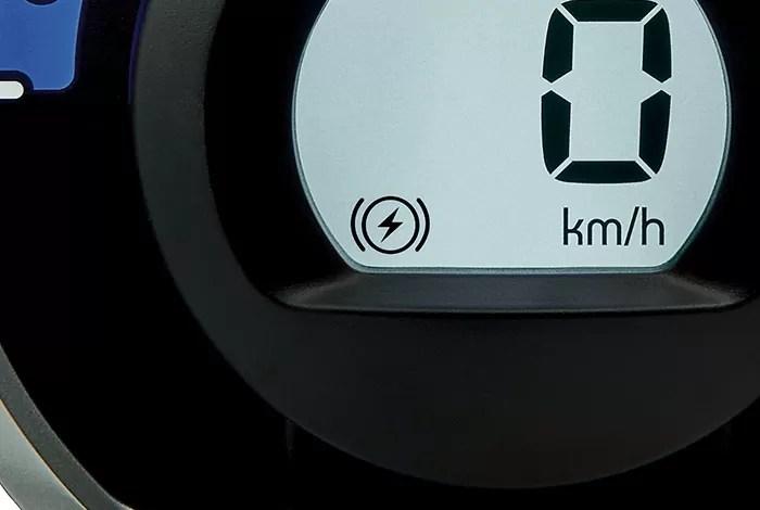 新型アイミーブ回生ブレーキ力警告灯