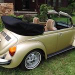 1974 Volkswagen Super Beetle Limited Edition Gold Sun Bug Convertible