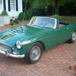 1967 Mgb British Racing Green Overdirve Chrome Wheels