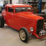 1932 Ford 5 Window Coupe Fiberglass Body Power Windows Automatic 327 Eng