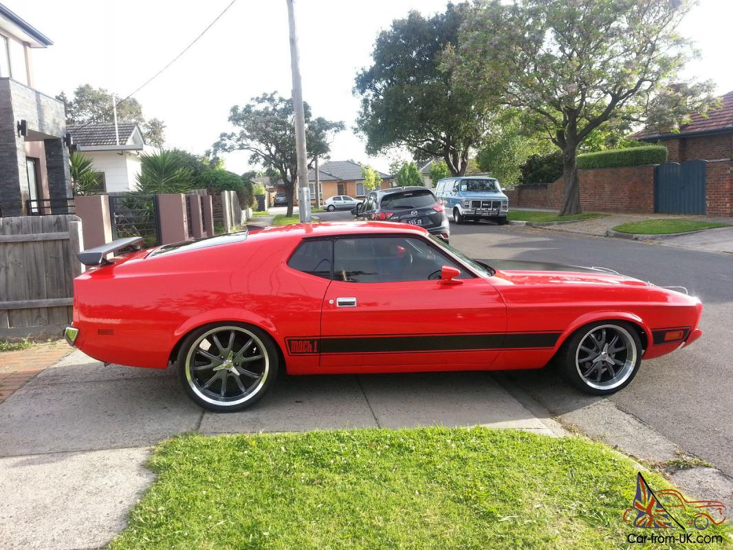 Exceeds federal motor vehicles safety standards 209 & 1973 Ford Mustang Mach 1 Coupe Fastback Sports 2 Door Not Chevy Camaro Firebird In Bentleigh East Vic