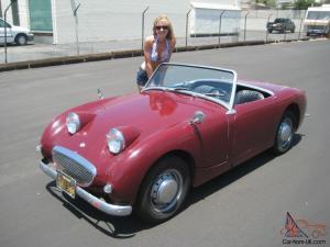 1960 Austin Healey Bugeye Sprite, Black Plate California Car, very nice Frogeye