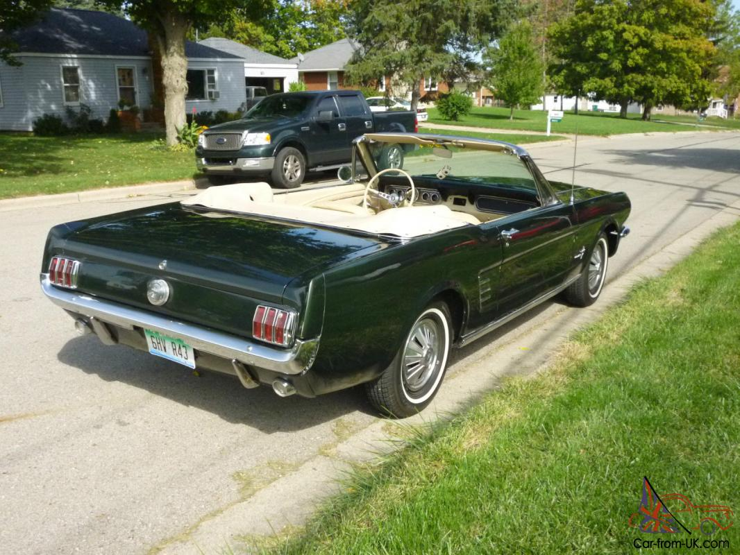 Green Ford Mustang Convertible