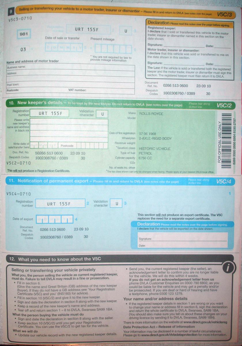 Find Car Registration Address