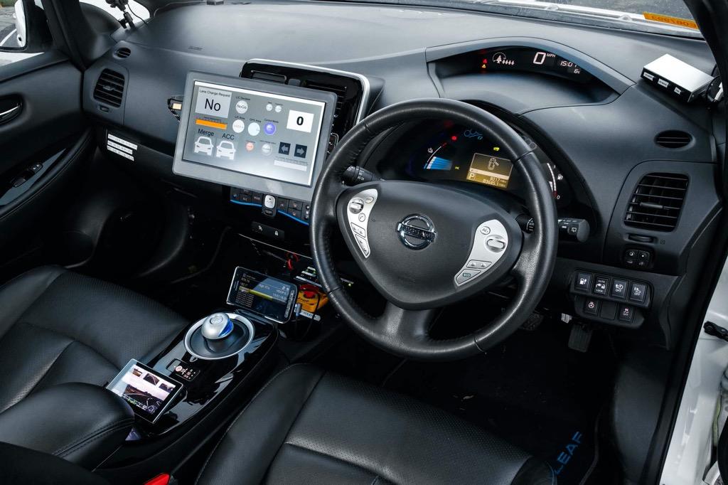 AD vehicle interior