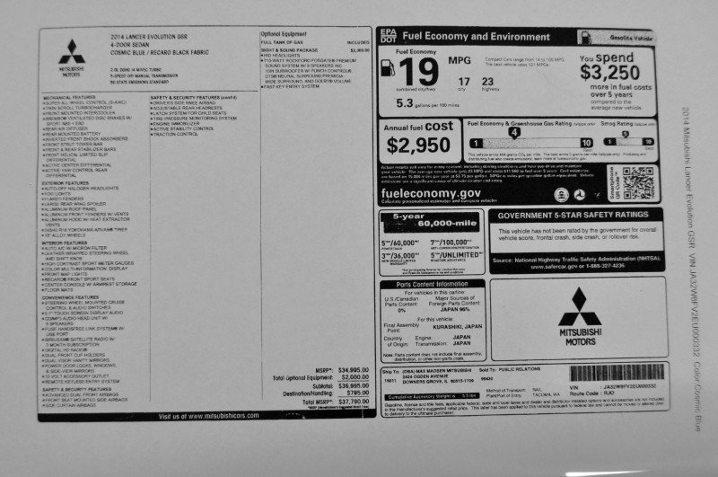 CarRevsDaily.com - 2014 Mitsubishi Lancer Evolution GSR33