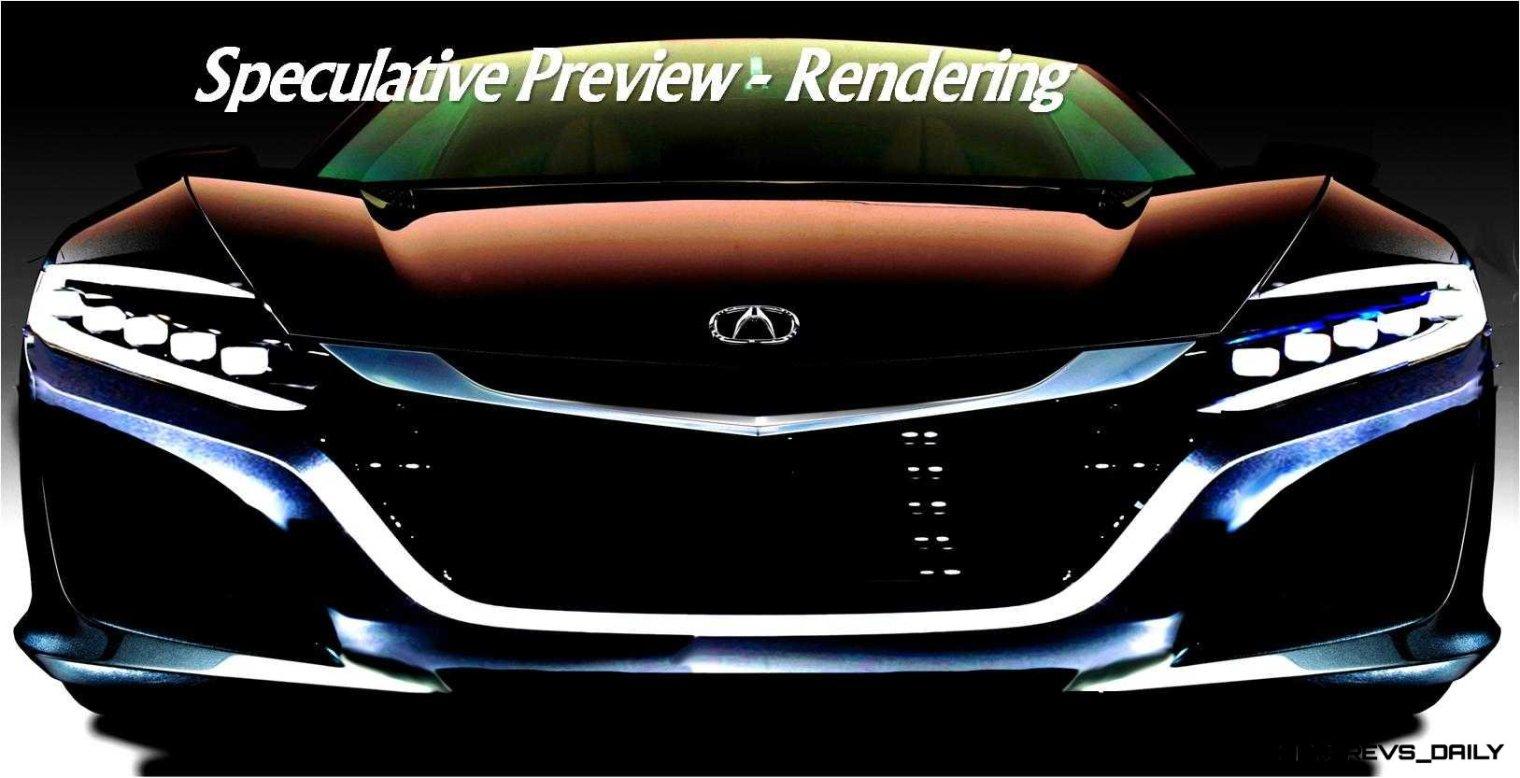 Rendering CarRevsDaily.com NSX Preview Honda