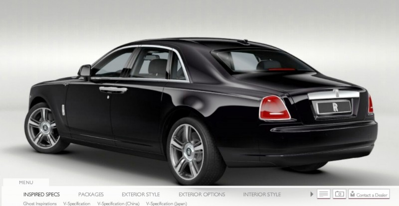 CarRevsDaily.com - 2014 Ghost V-Specification Builder With Exterior and Int Color Samples 1