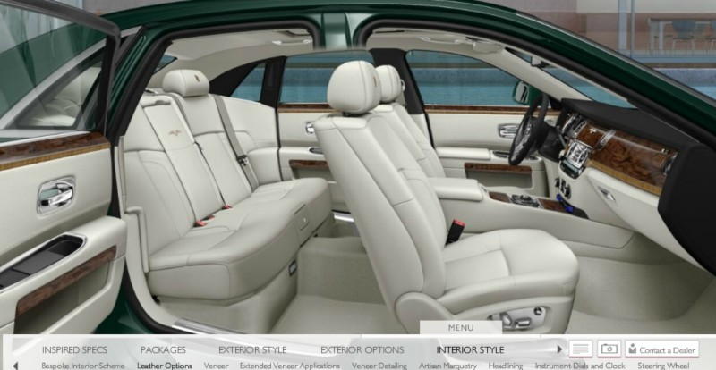 CarRevsDaily.com - 2014 Ghost V-Specification Builder With Exterior and Int Color Samples 56