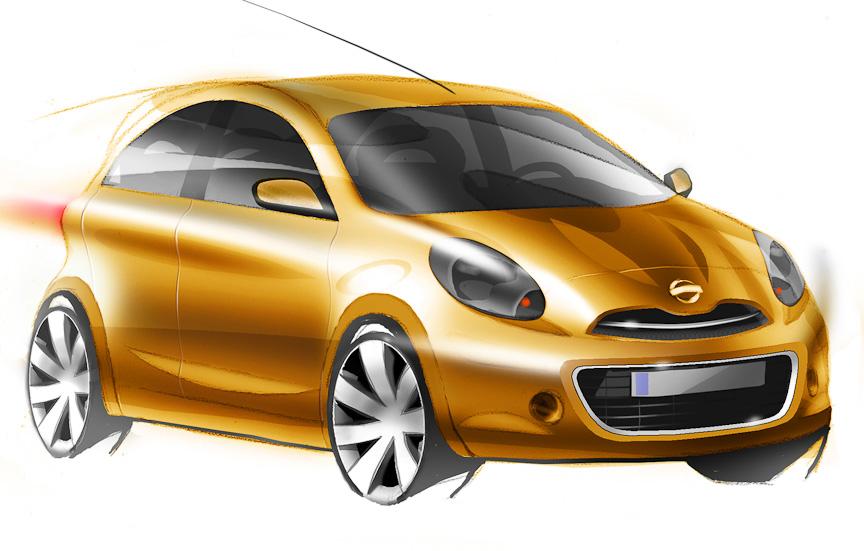 Nissan 2010 小車車型草圖曝光 | Car1hk's Blog