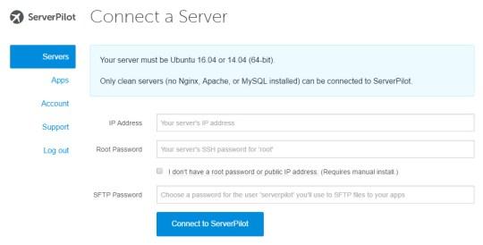 Setting Server ServerPilot ke DO dengan mudah
