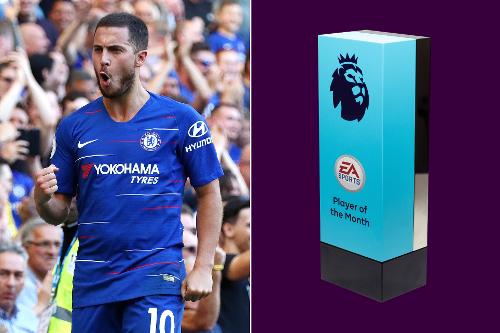 Eden Hazard Raih Penghargaan Pemain Terbaik Bulan September