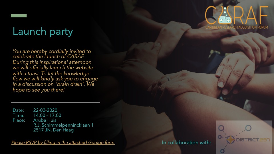 CARAF website launch party invite