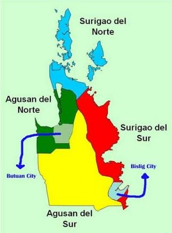 caraga map