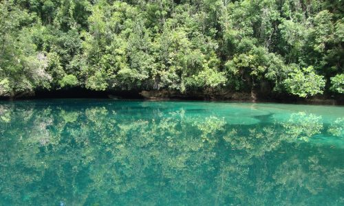 Inside Sohoton Cove Still Water Reflections, Sohoton, Bucas Grande Islands